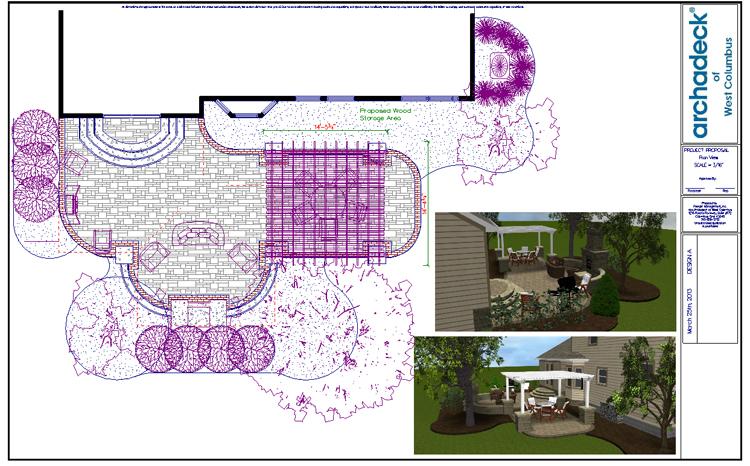 Columbus patio design plan
