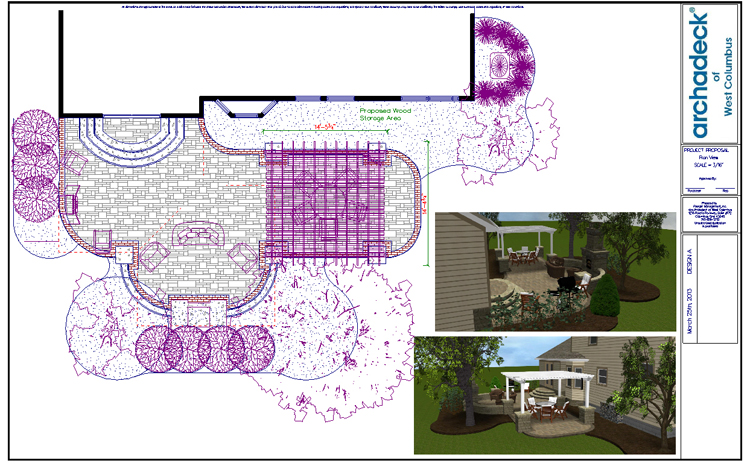 Columbus patio design plan