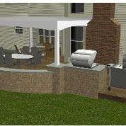 A little look at the anticipated grill and smoker area, which will lie adjacent to the deck and porch area.