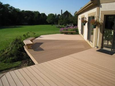 After -Redecking in TimberTech Earthwood by Archadeck of Columbus