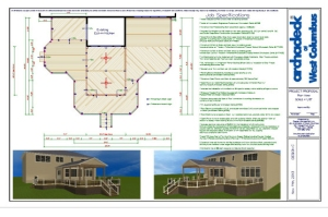 Dublin, OH deck and open porch plan.