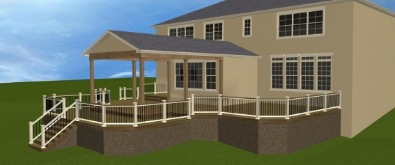 Dublin OH TimberTech deck and open porch by Archadeck of Columbus