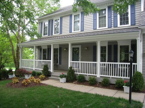 Open porches columbus decks porches and patios by for House plans with columns and porches