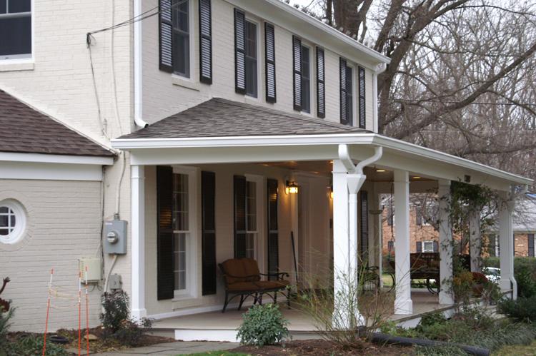 Columbus front porches for Front porch roof designs