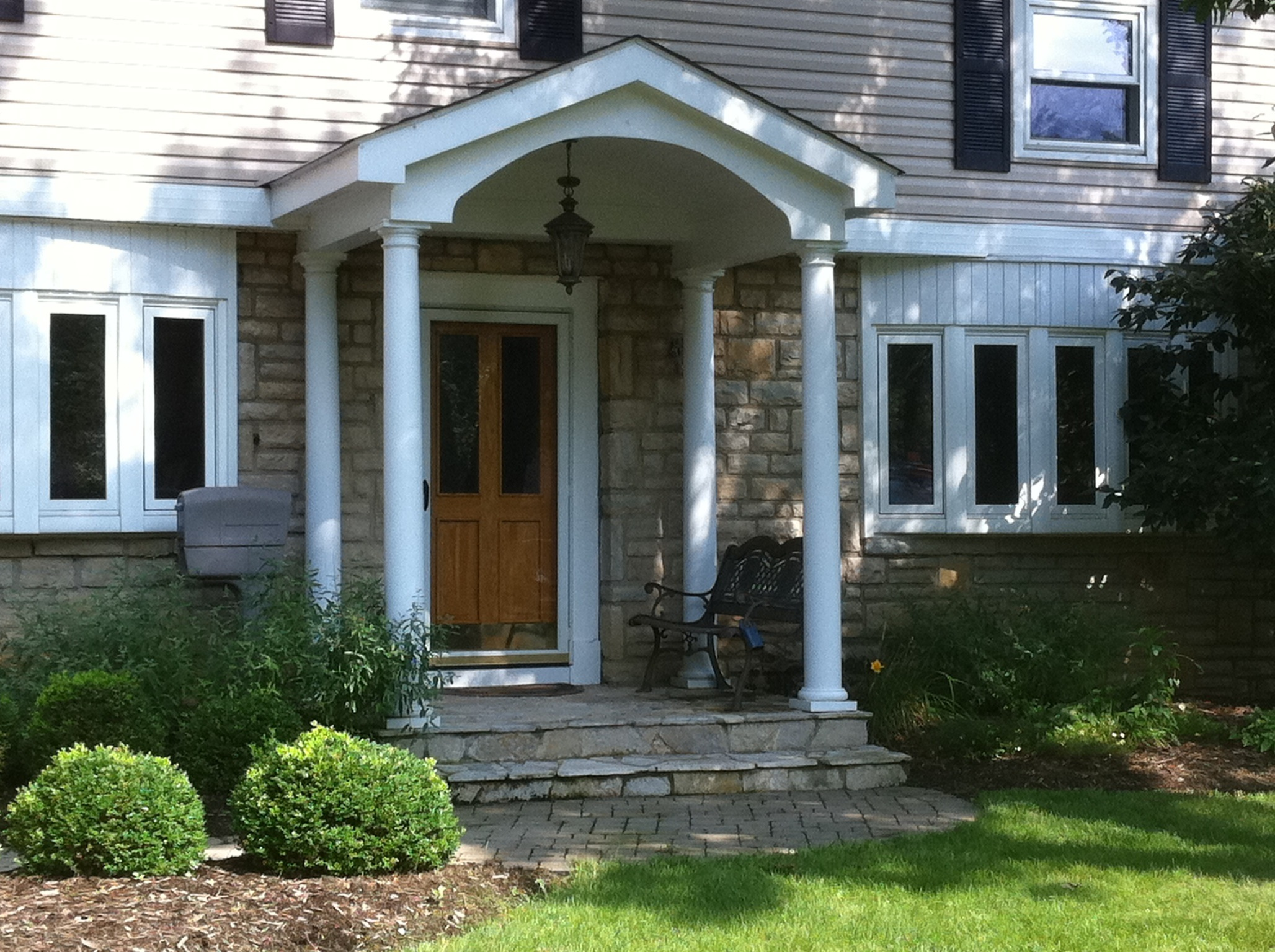 Columbus oh low maintenance front porches and porticos Front porch blueprints