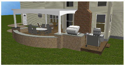 Dublin OH Columbus Paver Patio With Outdoor Kitchen And Deck
