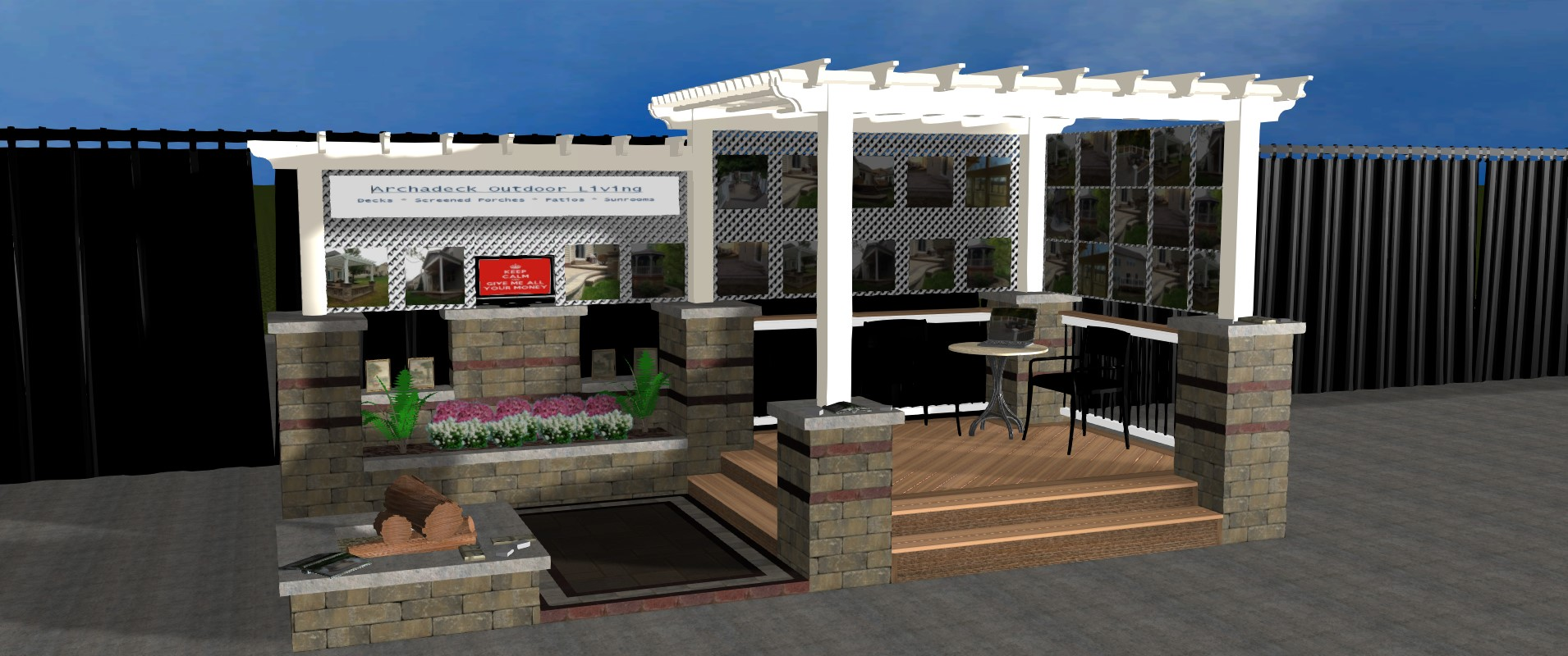 ... Columbus Dispatch Home And Garden Show Our Booth Will Highlight A  Stunning Deck And Pergola Combination,a Unilock Patio And Much More!