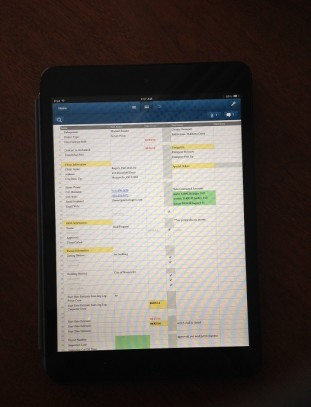 Archadeck of Columbus Smart Sheet technology on Ipad