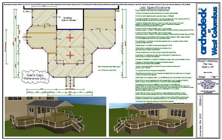Columbus deck and porch design plan