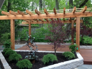 Ipe deck pergola patio Upper Arlington Columbus