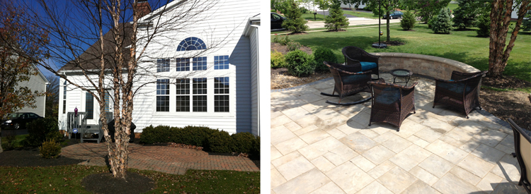 Take a look at the before and after. They are different angles but we promise, this is the same house!