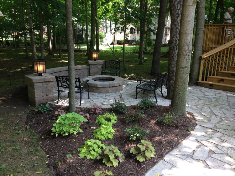 New Albany Oh Built In Fire Pit Columbus Decks Porches