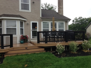 multi level low-to-grade TimberTech deck Dublin Columbus lr
