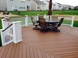 Marysville Columbus TimberTech brown oak deck