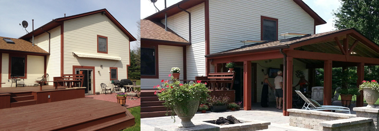 Pataskala OH before and after new patio