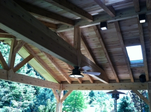 Enjoy using cedar for the open rafter ceiling on your open porch