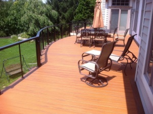 TimberTech Evolutions -Teak and Walnut with Cable Railings