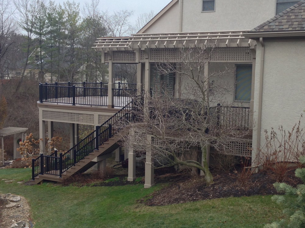 This columbus re deck evokes exudes asian zen inspiration for 2 story decks and patios