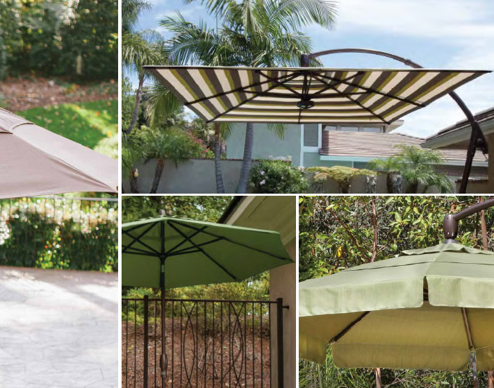 Casuwel furniture line includes an offering of Sunbrella outdoor unbrellas