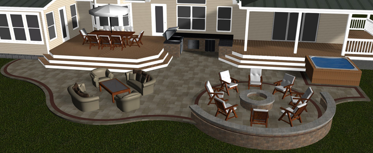 Gahanna OH Porch Patio Deck And Outdoor Kitchen