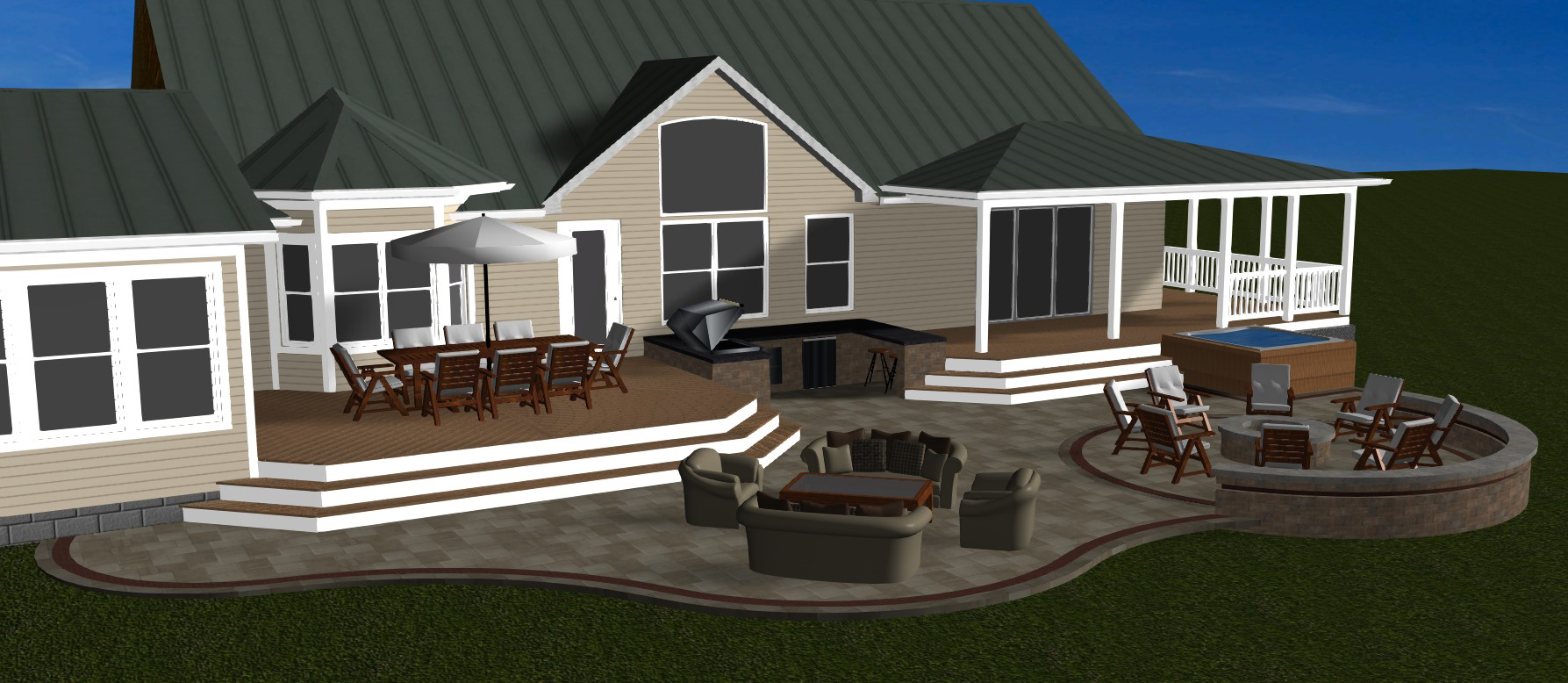 Columbus decks porches and patios by archadeck a for Outdoor porches and patios