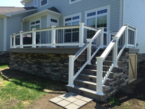 Columbus New Albany OH deck with stone skirting lr