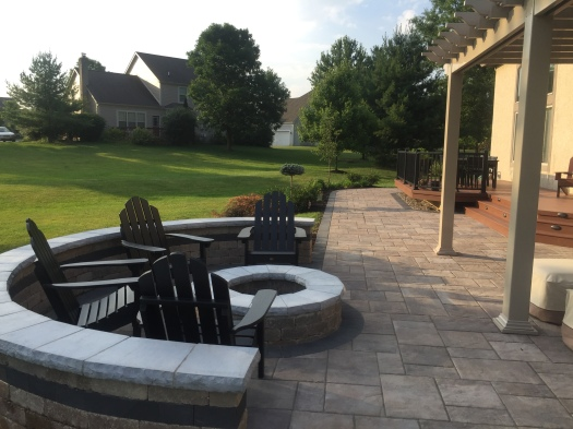 New Albany OH, custom backyard fire features