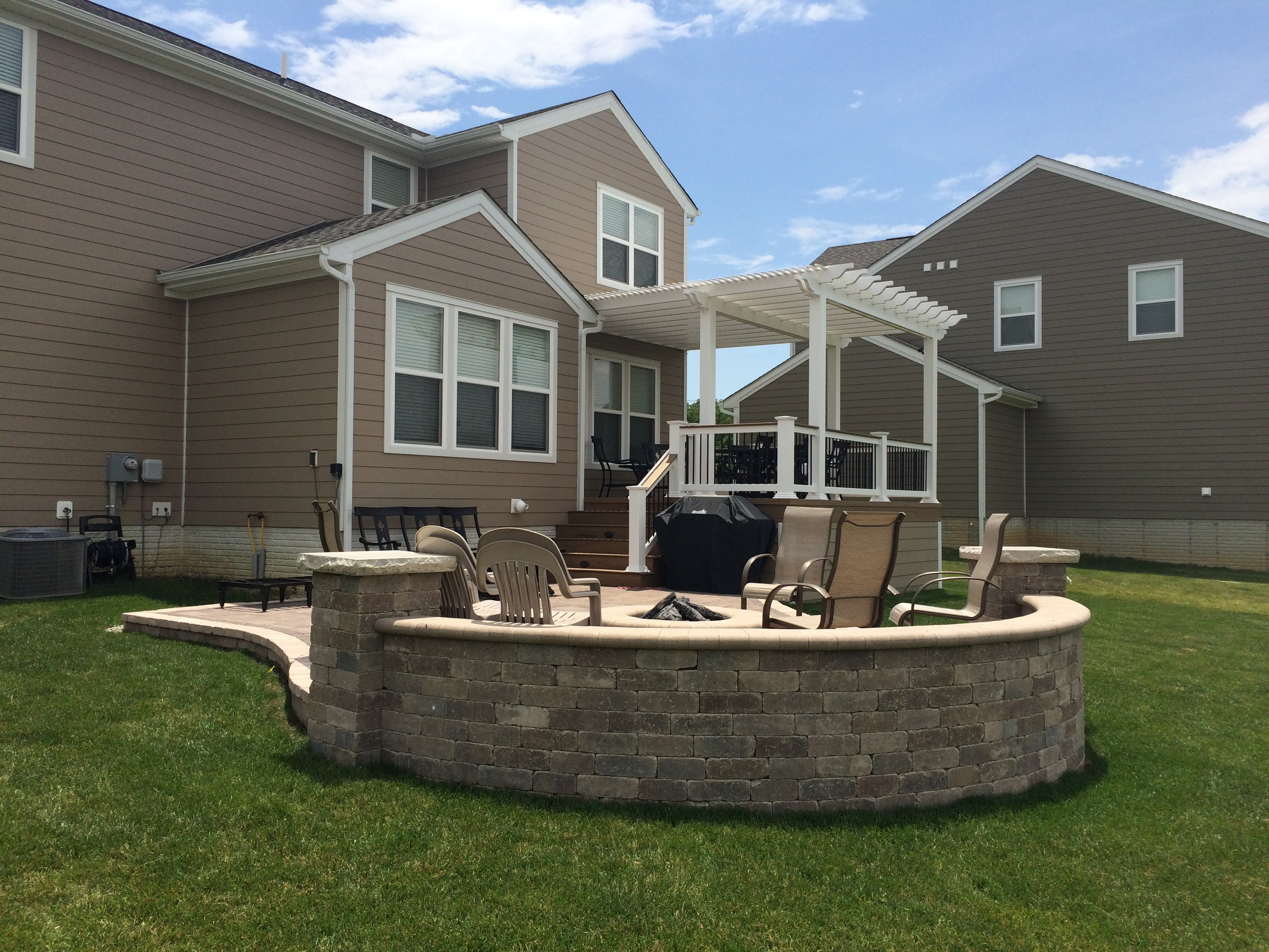 sunbury oh patio and deck combination columbus decks porches and