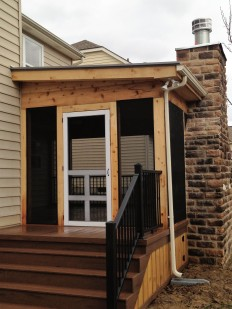 Rustic screend porch designs in Columbus OH