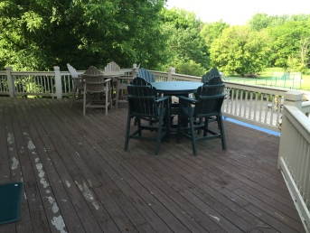 Deck prior to redecking