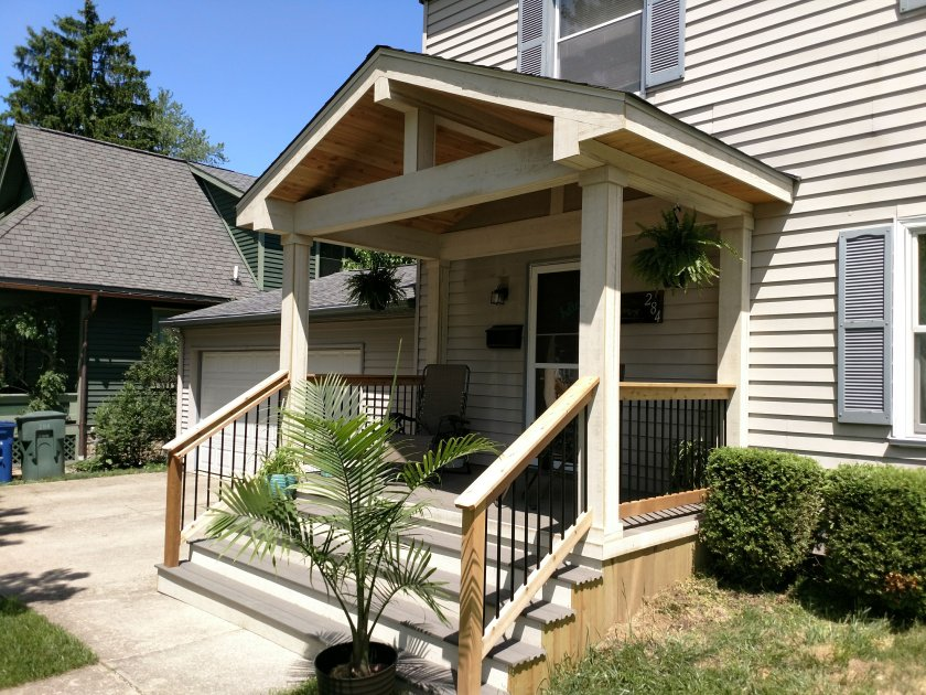 Clintonville OH front porch makeover
