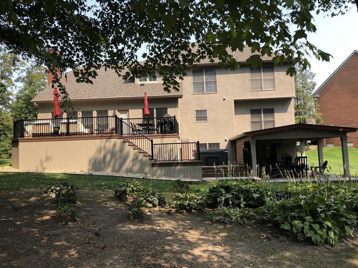 lewis center deck and porch combination